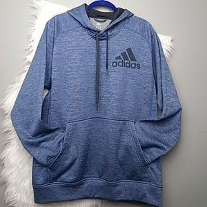 Adidas Climawarm Blue Pull Over Hoodie